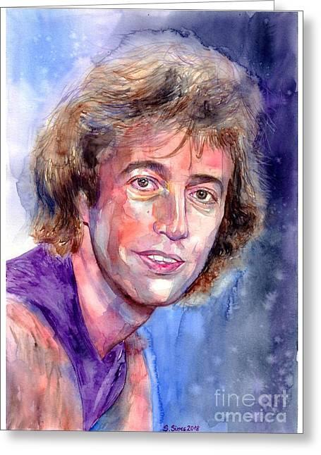 Robin Gibb Portrait Greeting Card
