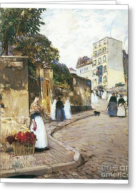 Rue Montmartre Greeting Card