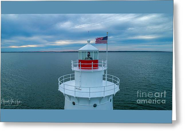 Greeting Card featuring the photograph Sakonnet Lighthouse  by Michael Hughes