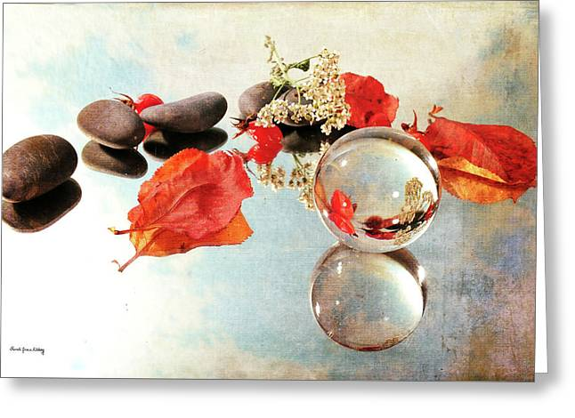 Greeting Card featuring the photograph Seasons In A Bubble by Randi Grace Nilsberg