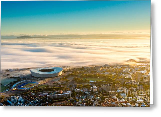 Shortly After Sunrise In Cape Town, The Greeting Card