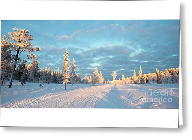 Snowy Winter Landscape Greeting Card