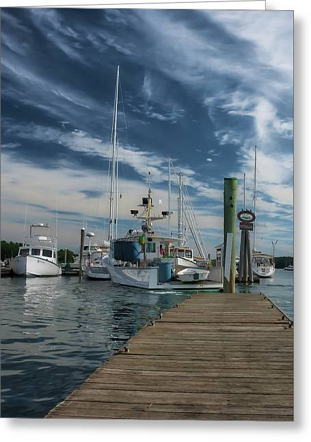 Greeting Card featuring the photograph South Freeport Pier  by Guy Whiteley