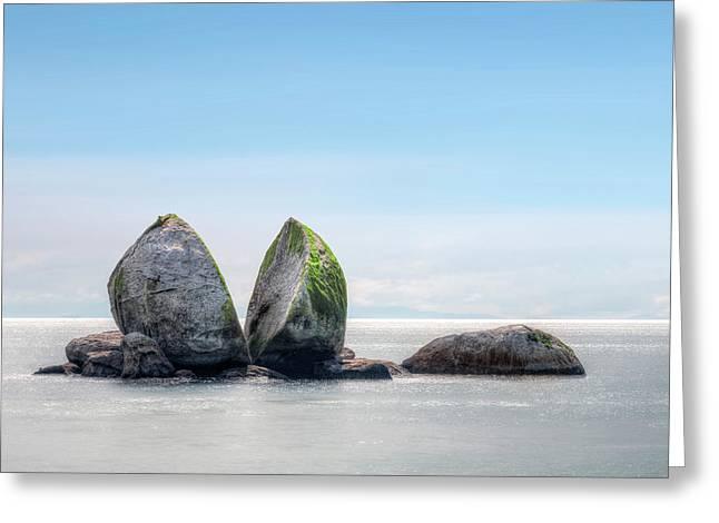 Split Apple Rock - New Zealand Greeting Card