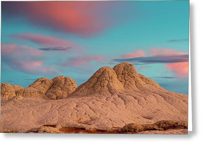 Stunning Clouds At Sunrise, Vermillion Greeting Card by Howie Garber