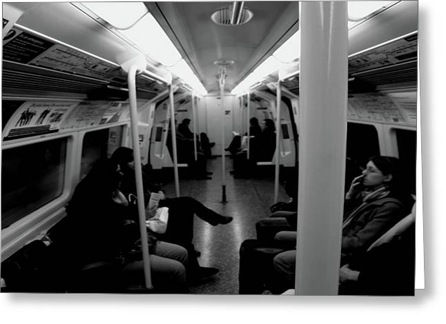 Greeting Card featuring the photograph Subway by Edward Lee
