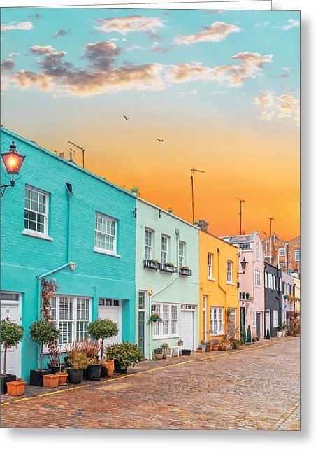 Sunset Street Greeting Card