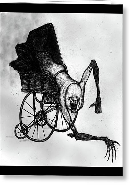 The Nightmare Carriage - Artwork Greeting Card