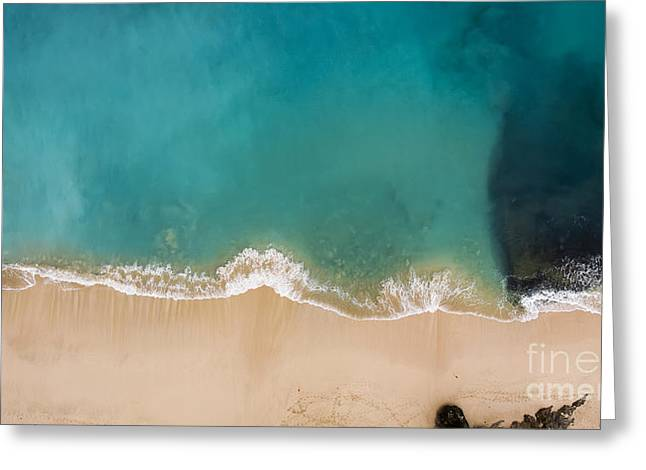 Top View Aerial Photo From Flying Drone Greeting Card