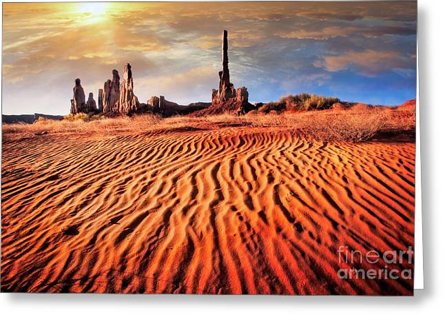 Totem Dunes Greeting Card