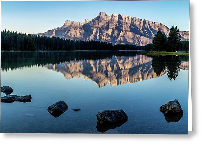 Two Jack Lake, Banff National Park, Alberta, Canada Greeting Card