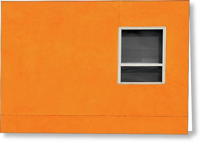 Very Orange Wall Greeting Card