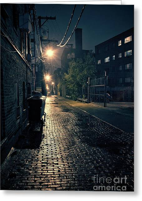 Vintage Chicago Alley Greeting Card