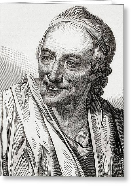 Voltaire, French Enlightenment Writer, Historian And Philosopher Greeting Card