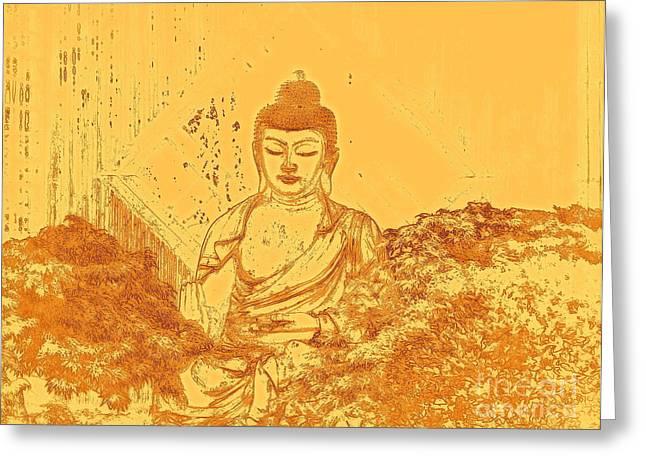 Warm Buddha Greeting Card