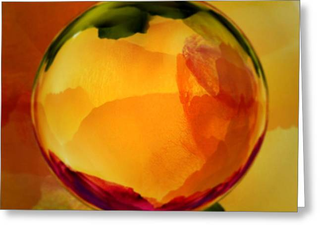 Watercolor Glass Marble  Greeting Card
