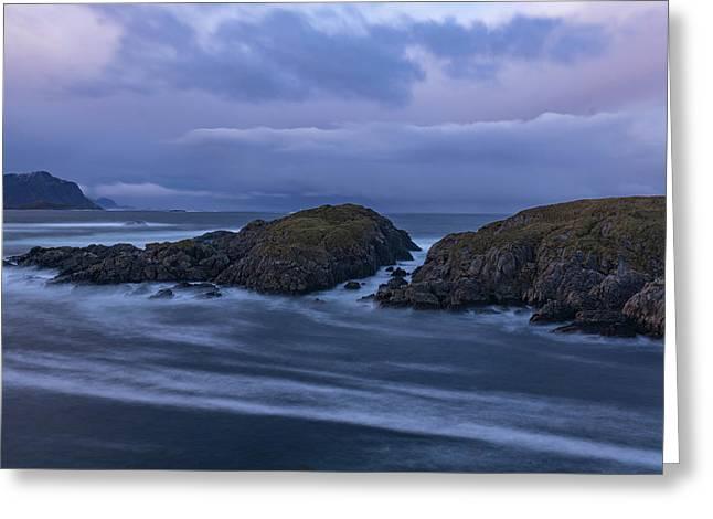 Waves At The Shore Greeting Card
