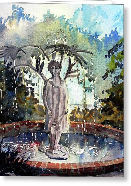 Why Does It Always Rain On Me Greeting Card
