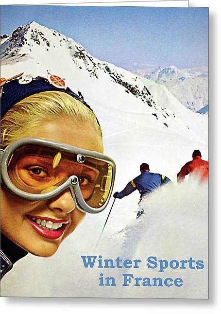 Winter Sports In France Greeting Card