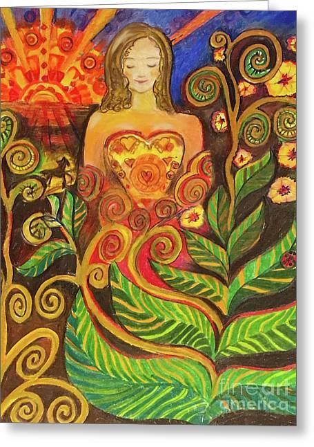 Zen Morning Greeting Card