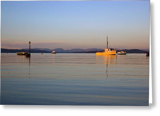 10/11/13 Morecambe. Fishing Boats Moored In The Bay. Greeting Card