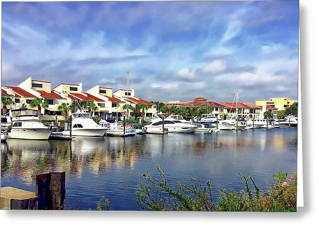 Greeting Card featuring the photograph Pensacola Bay by Anthony Dezenzio