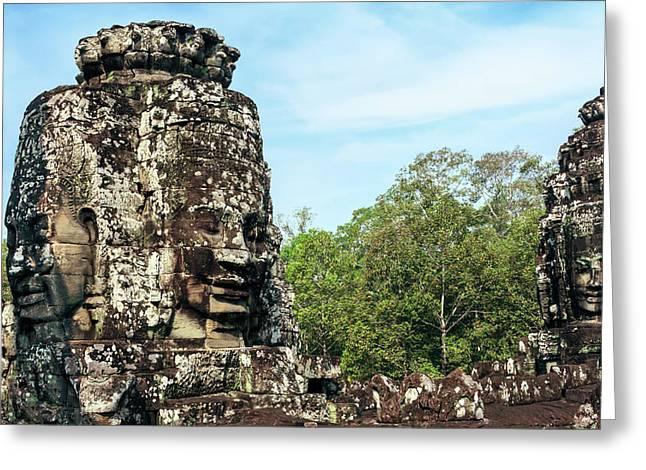 Siem Reap, Cambodia Greeting Card by Miva Stock