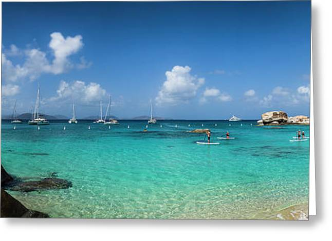 British Virgin Islands, Virgin Gorda Greeting Card by Walter Bibikow