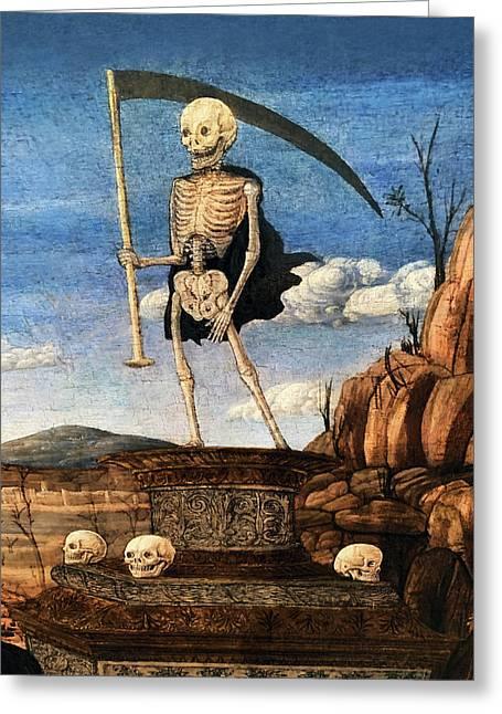 15th Century Skeleton Painting Greeting Card