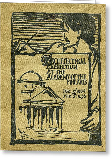 1894-95 Catalogue Of The Architectural Exhibition At The Pennsylvania Academy Of The Fine Arts Greeting Card