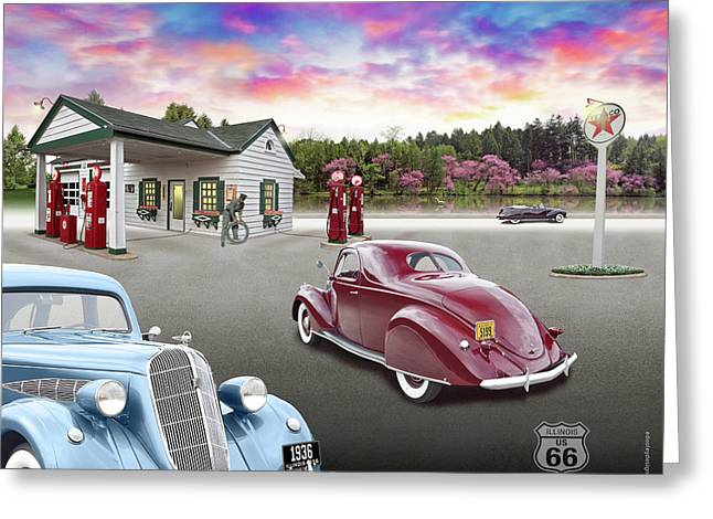 1930s Home Style Texaco Station Greeting Card