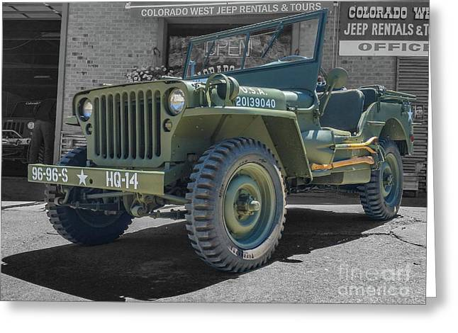 1942 Willys Gpw Greeting Card