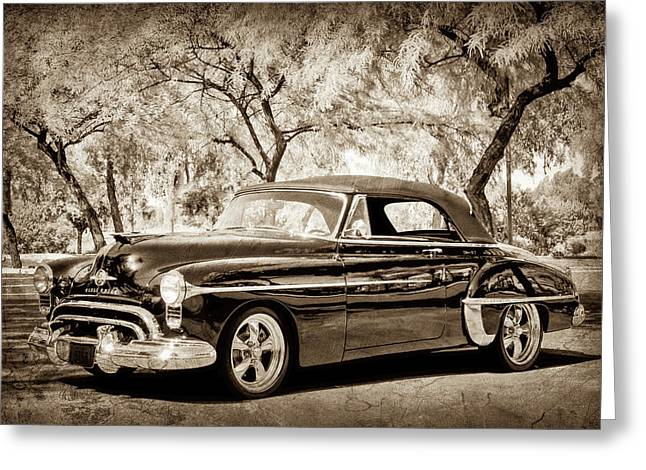 1950 Oldsmobile 88 -004bwcl Greeting Card