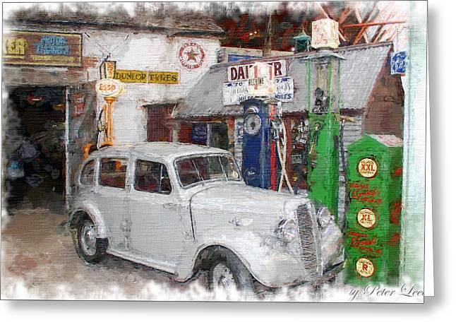 1950s Garage Greeting Card