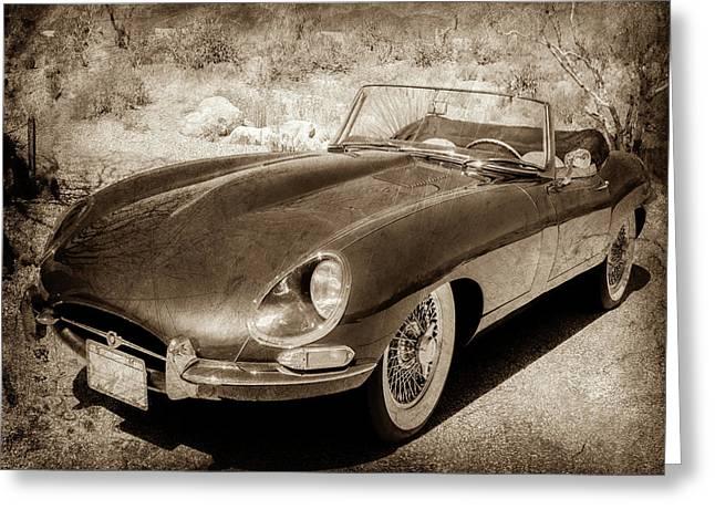1963 Jaguar Xke Roadster-111scl Greeting Card