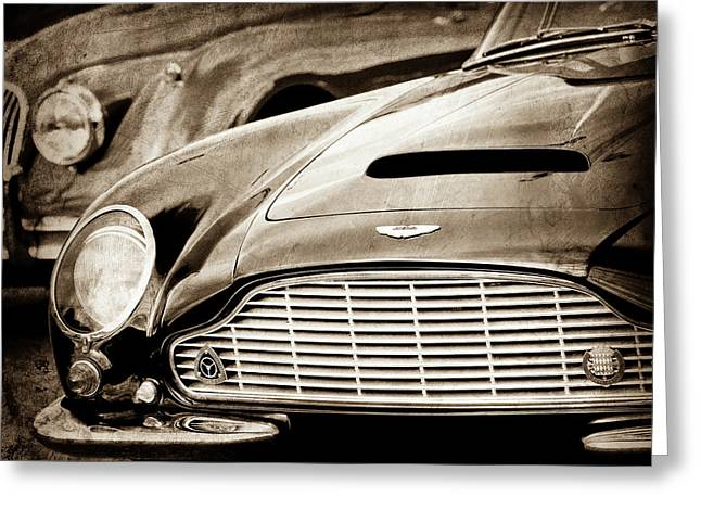 1965 Aston Martin Db6 Short Chassis Volante Grille-0970s2 Greeting Card