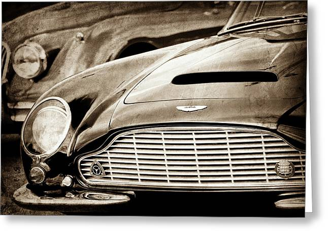 1965 Aston Martin Db6 Short Chassis Volante Grille-0970scl Greeting Card