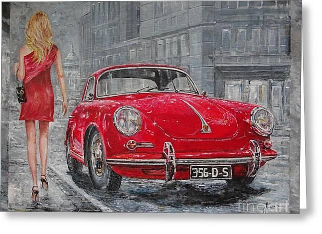 1965 Porsche 356 C Greeting Card