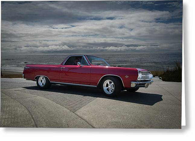 1965 Red El Camino Greeting Card