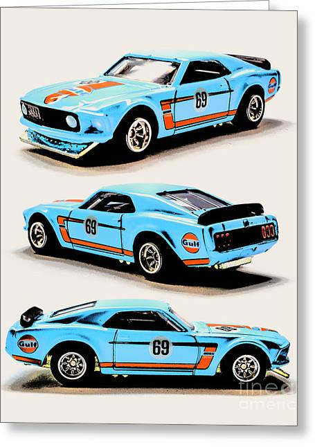 1969 Ford Mustang Boss 302 Greeting Card