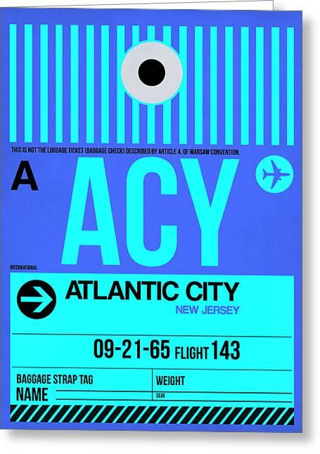 Acy Atlantic City Luggage Tag I Greeting Card