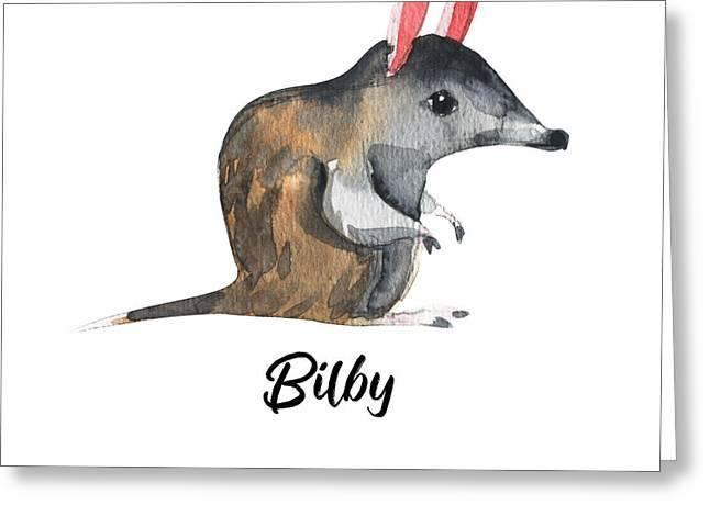 Australian Animals Watercolor Greeting Card