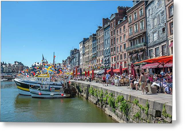 Avant Port, Honfleur, Normandy, France Greeting Card by Lisa S. Engelbrecht