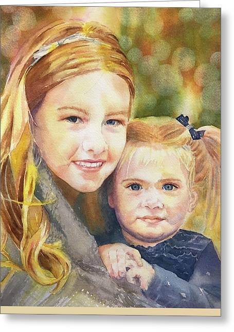 Belle And Maddie Greeting Card