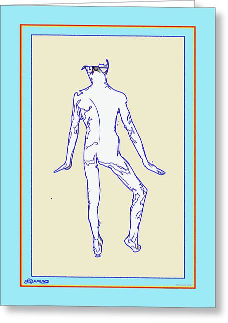 Blue Nude Greeting Card
