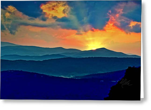 Blue Ridge Mountains Sunset Greeting Card