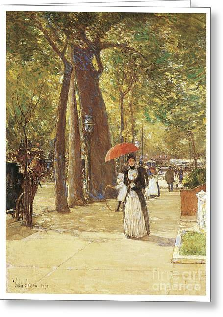 Fifth Avenue At Washington Square Greeting Card