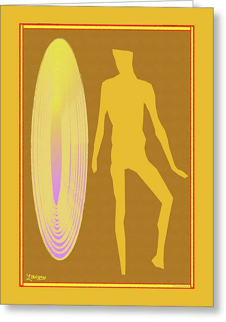 Golden Mist Greeting Card