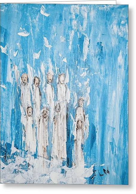Heavenly Host Of Angels  Greeting Card