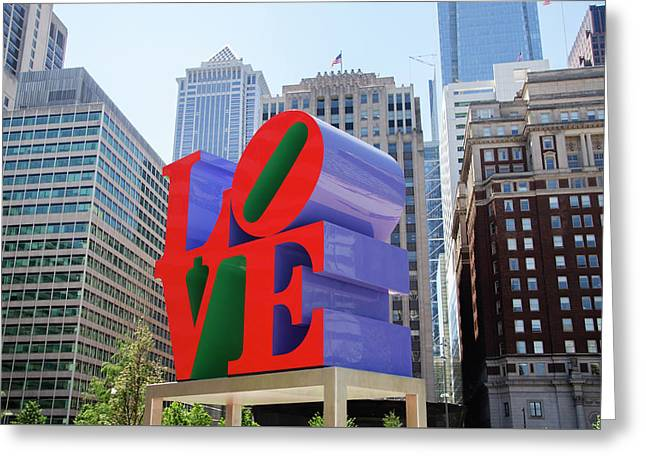 Greeting Card featuring the photograph Love In The City - Philadelphia by Bill Cannon